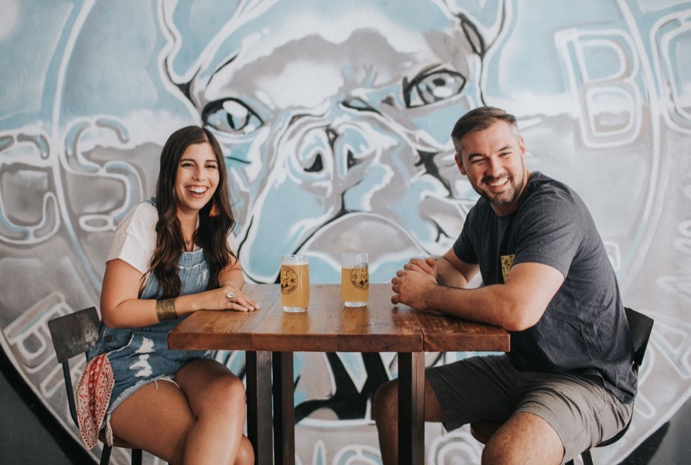 brewery engagement session