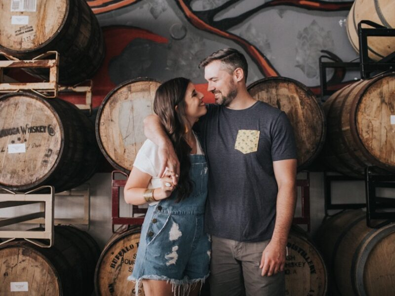 Traci + Kaleb Brewery Engagement Session - {Jupiter Florida Engagement Photographer}