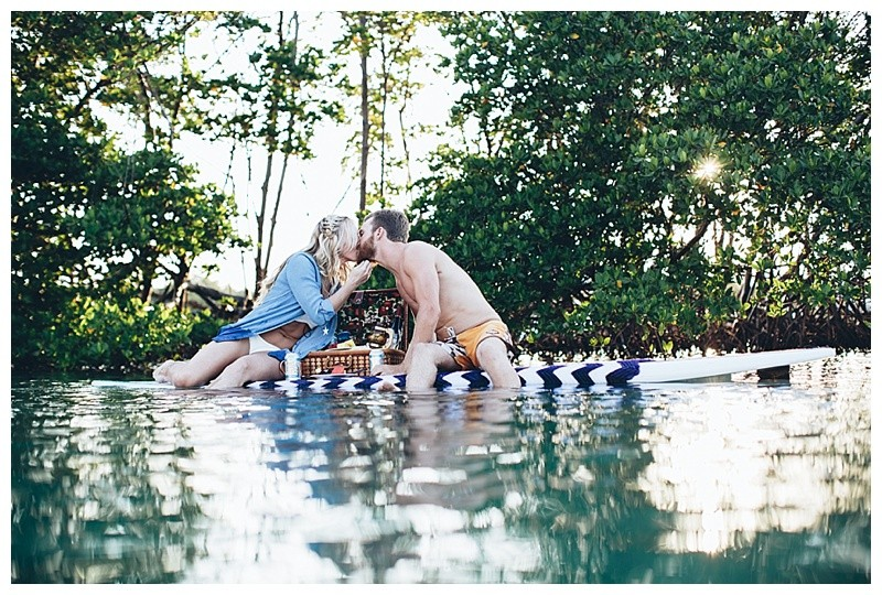 Vintage Style Paddleboard Picnic Engagement Session - Jupiter Island, FL