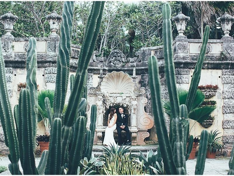 Emma and Justin - Vizcaya Museum and Gardens {Miami Wedding Photographer}