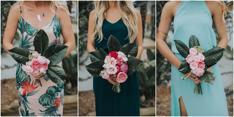 tropical floral bouquets