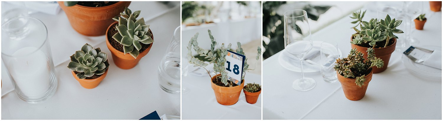 succulent wedding details