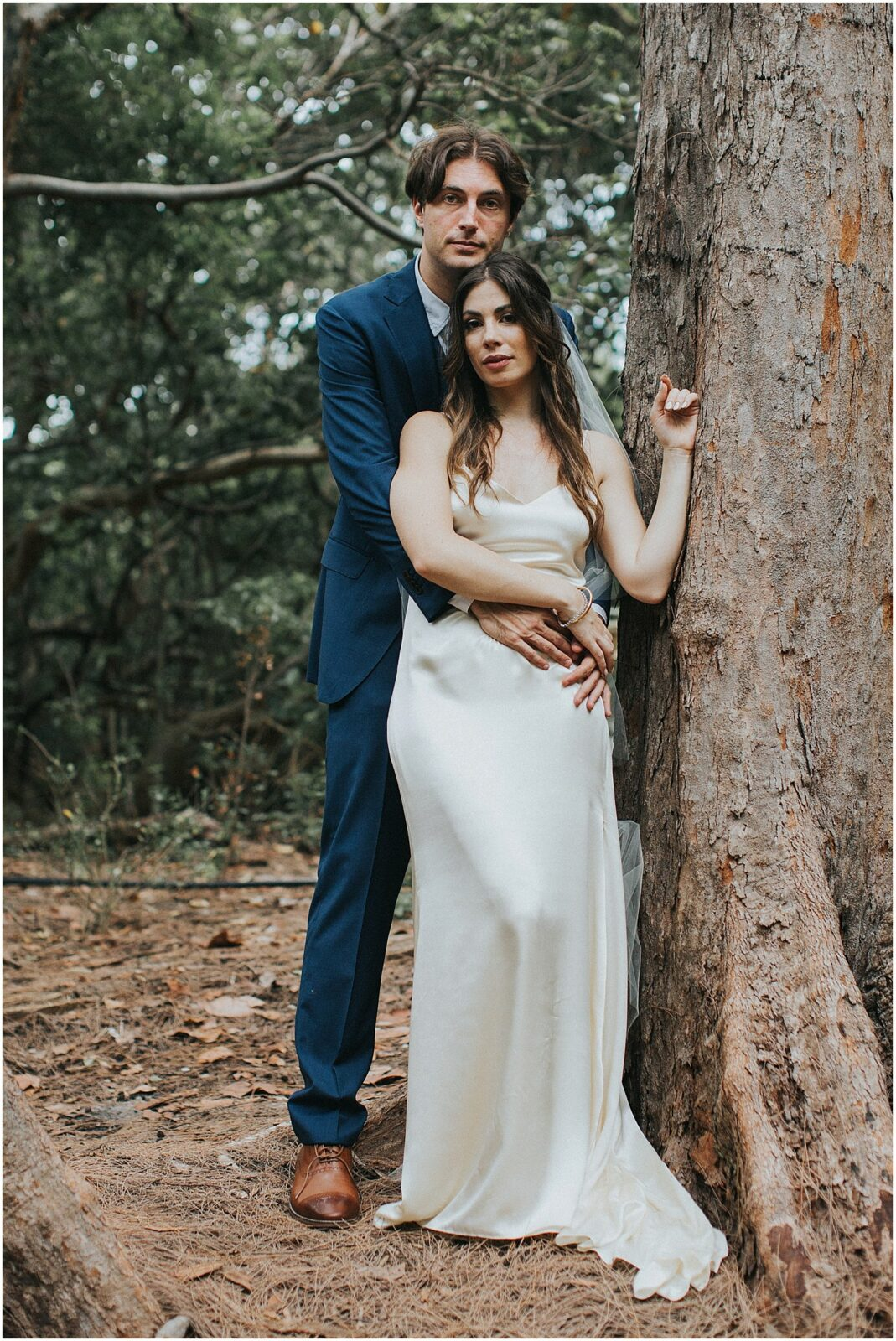 editorial bride and groom portraits