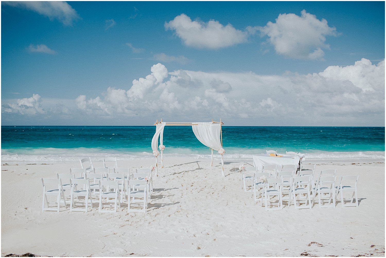 Exuma private beach wedding