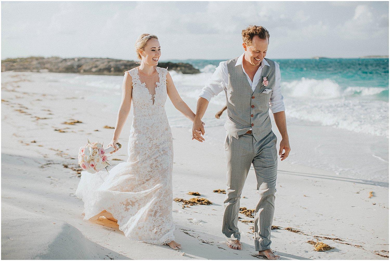 bride and groom beach portraits