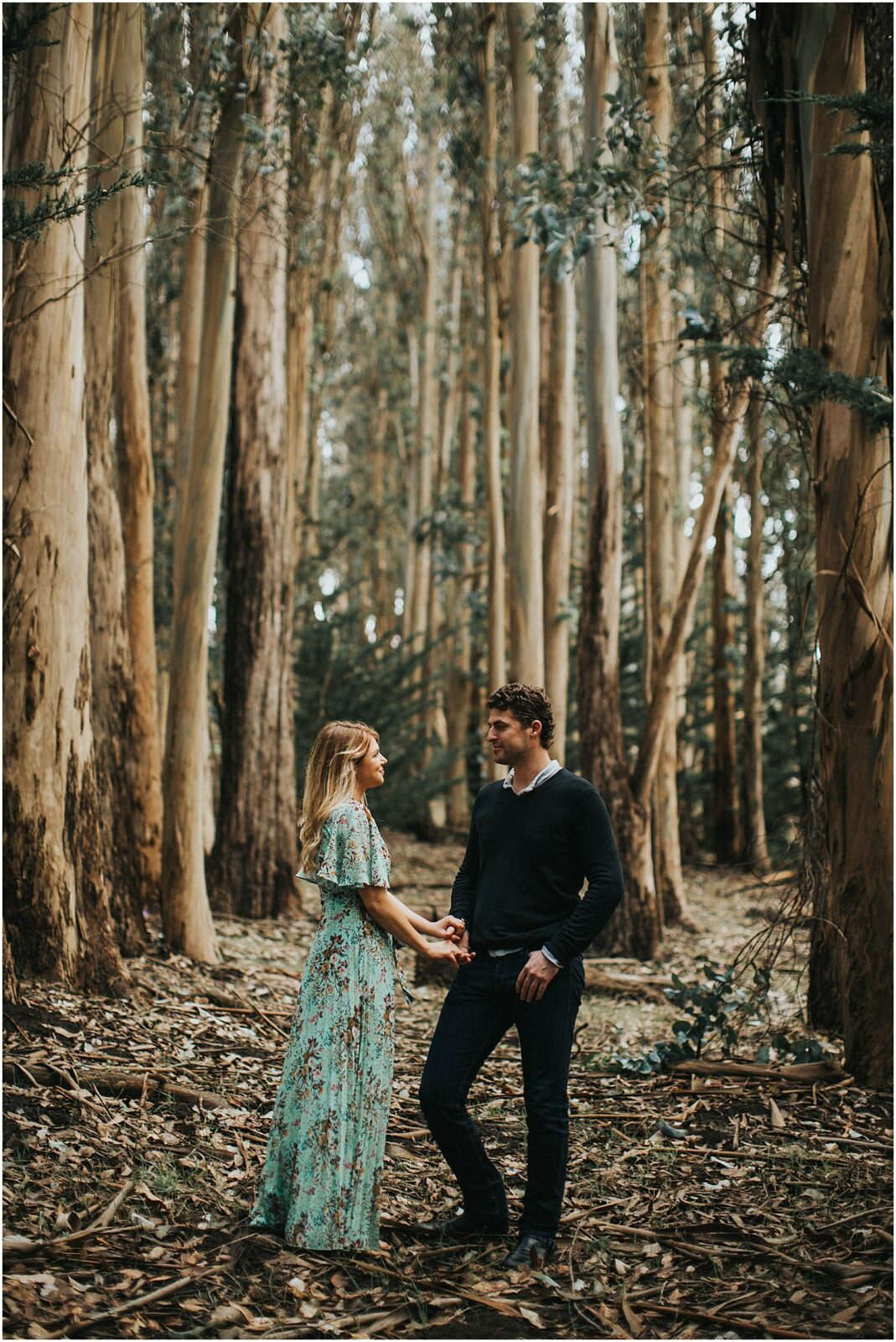 california forest engagement session