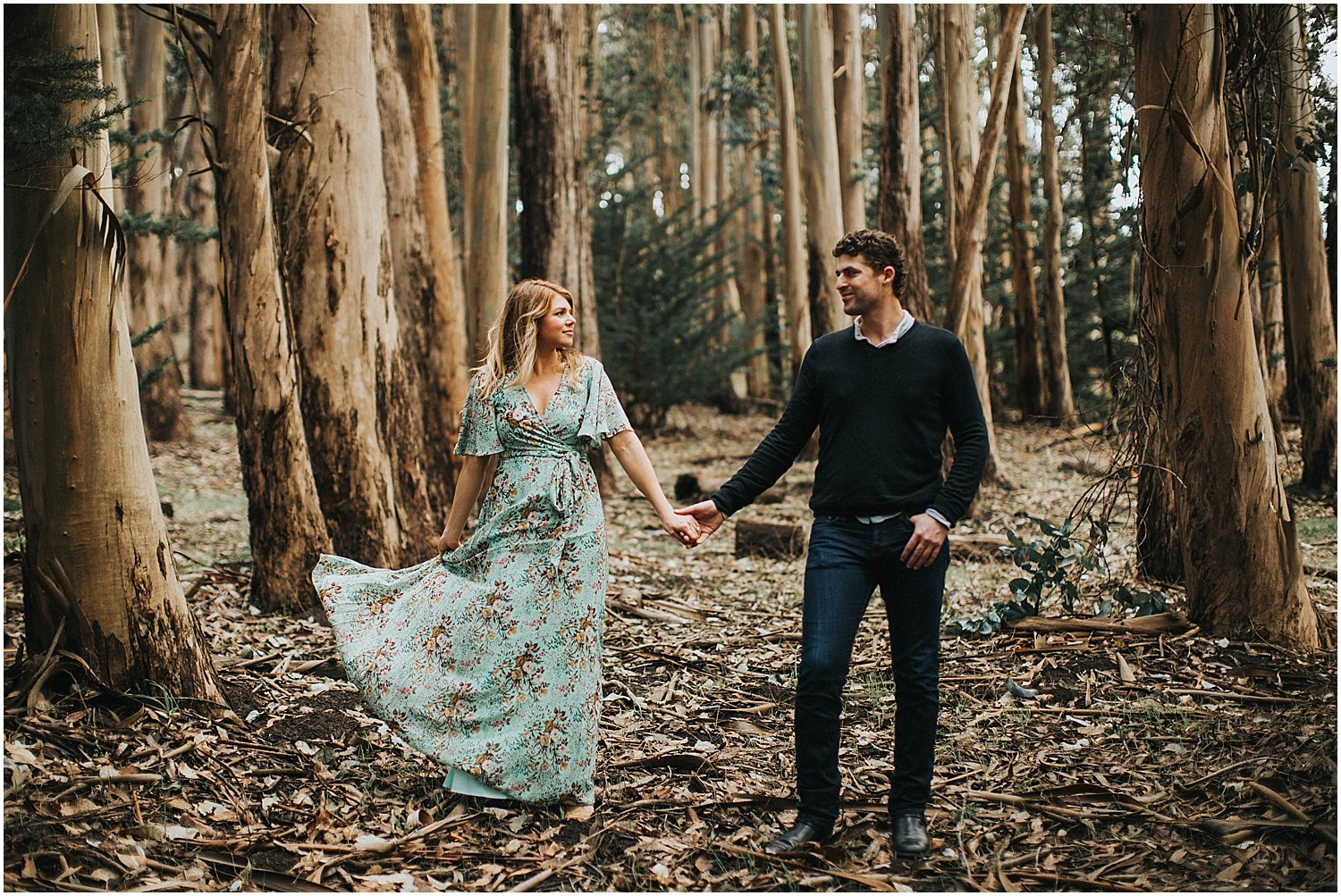 san Francisco forest engagement session