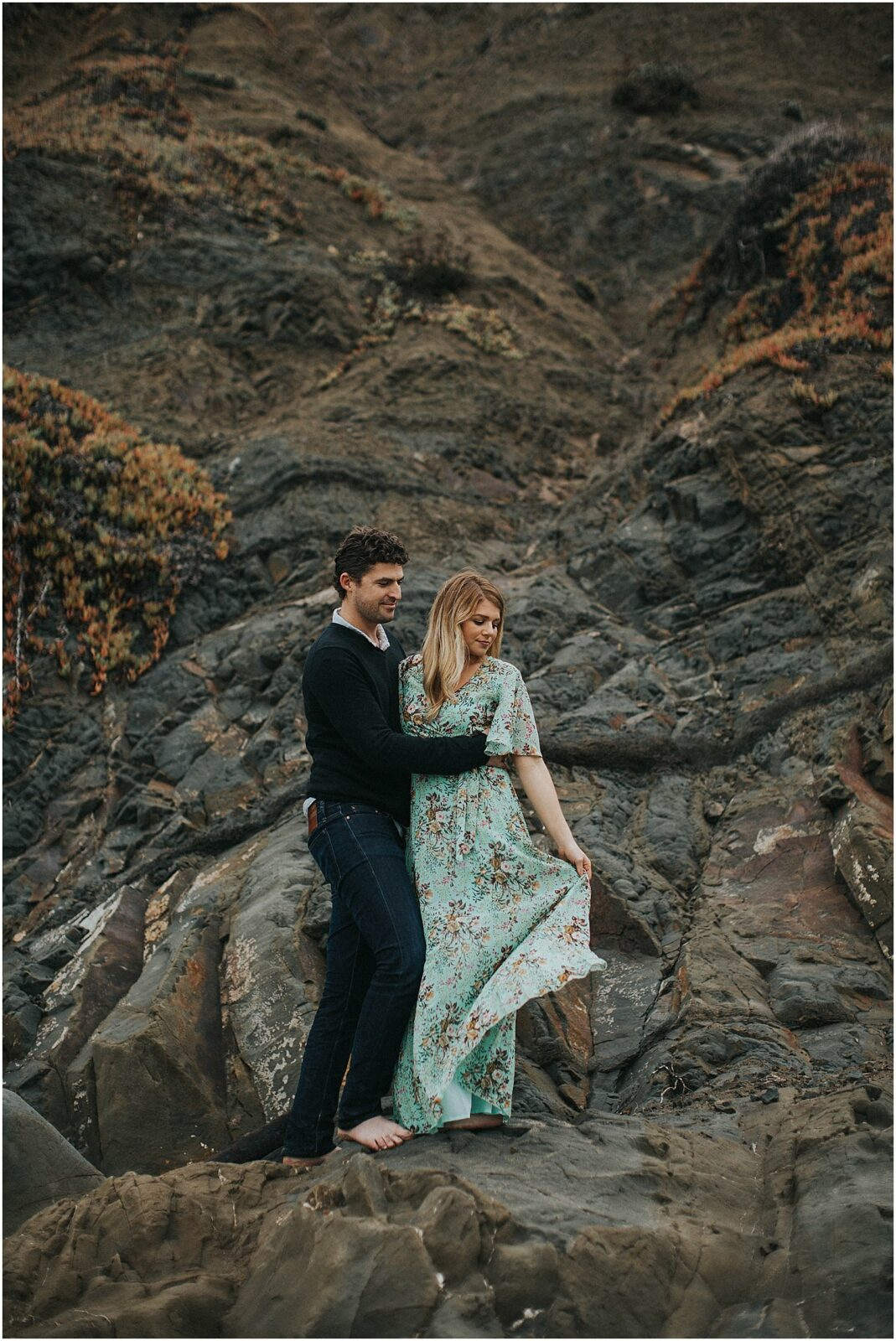 california beach engagement