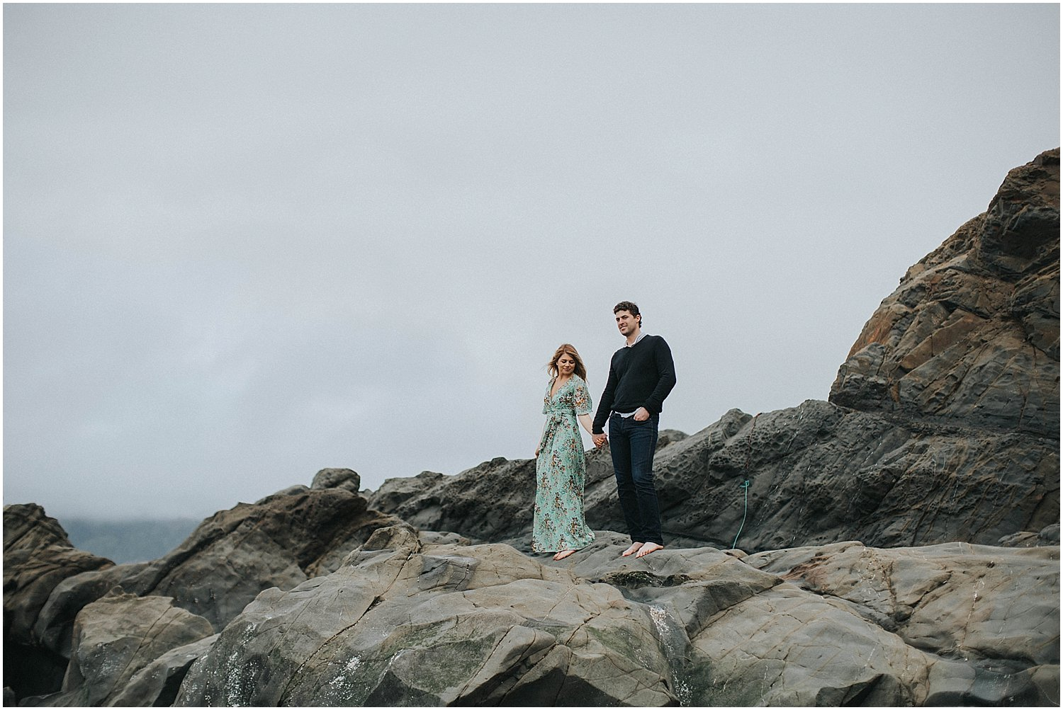 bakers beach engagement session