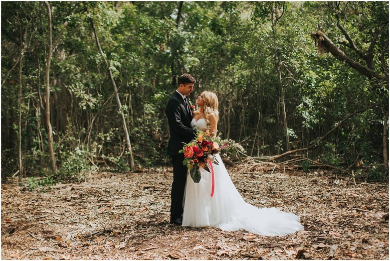 tropical florida wedding