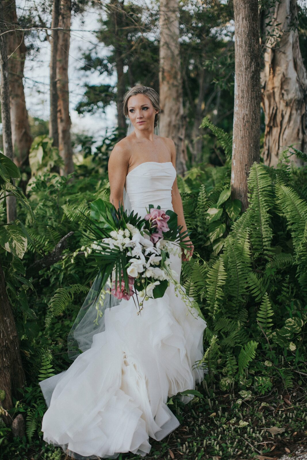 tropical bridal portraits