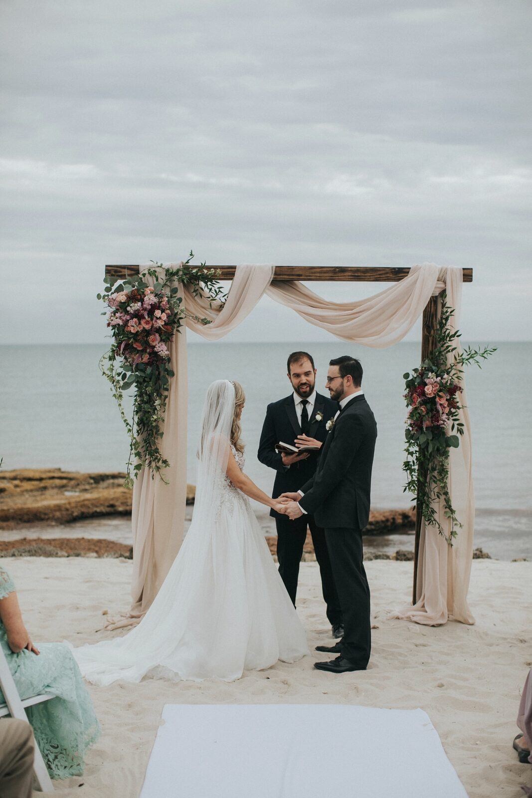 key west beach side wedding
