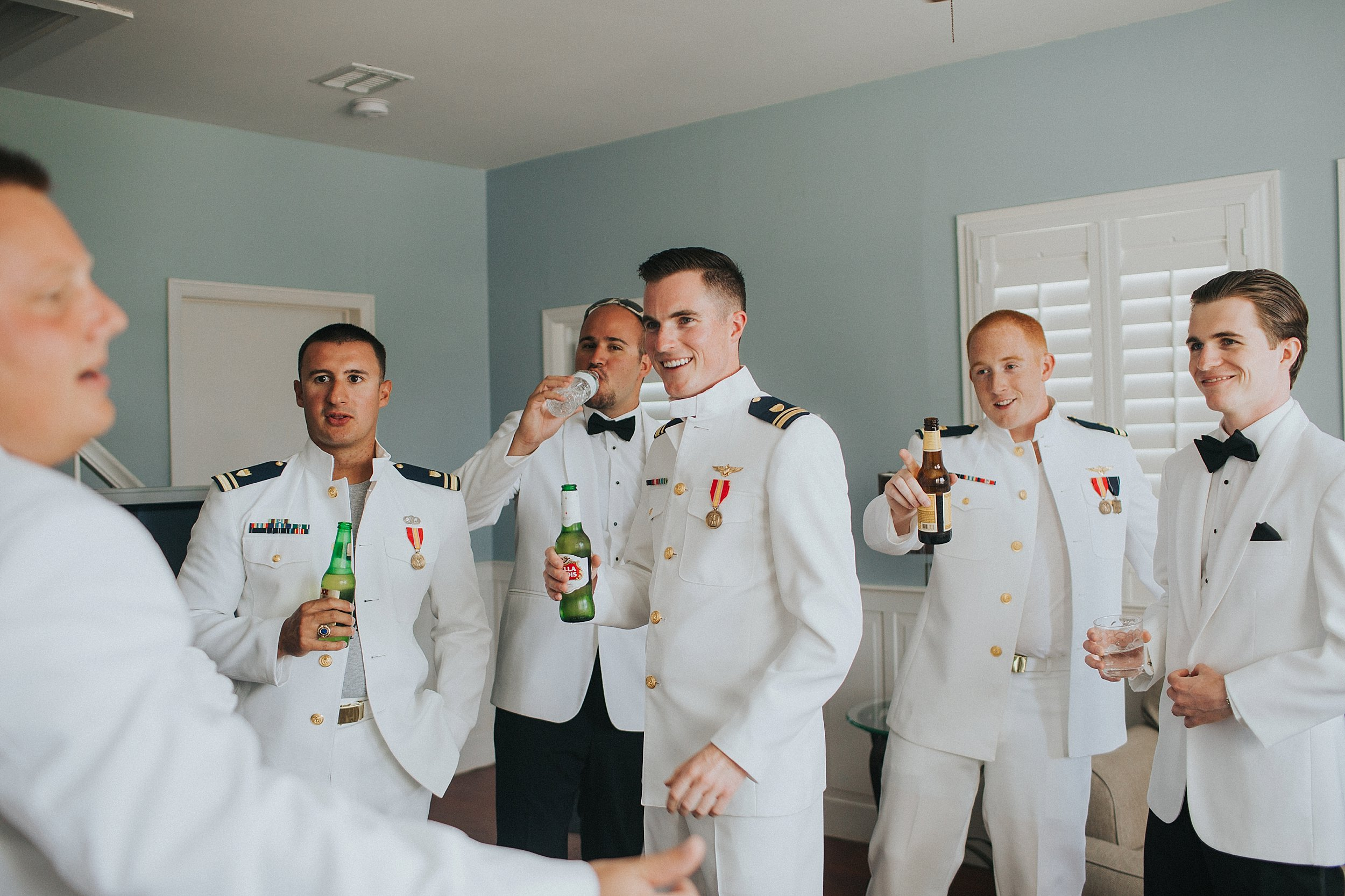 groomsmen having fun on the wedding day