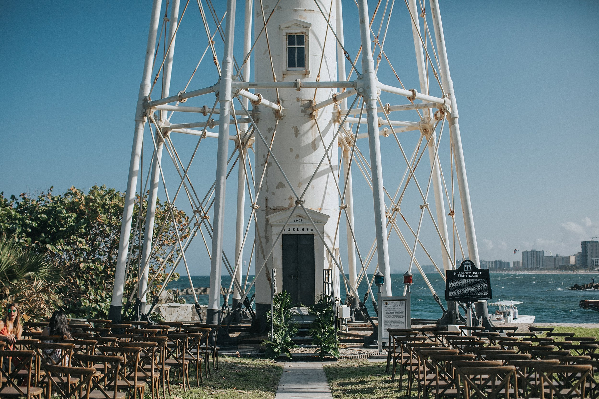 lighthouse wedding ceremony