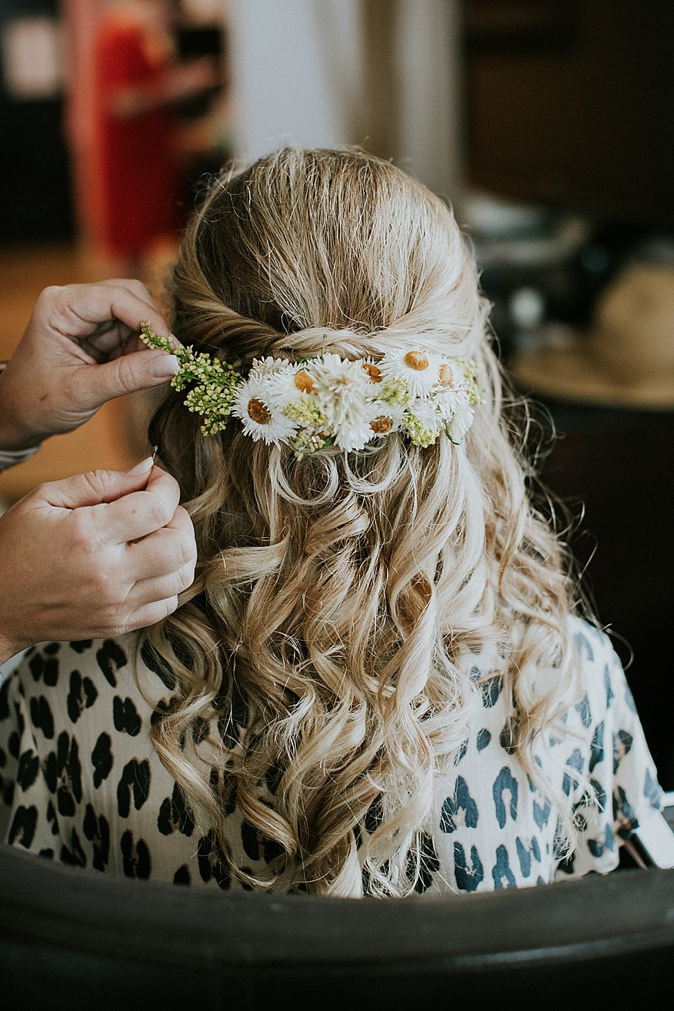 handmade bridal hair piece