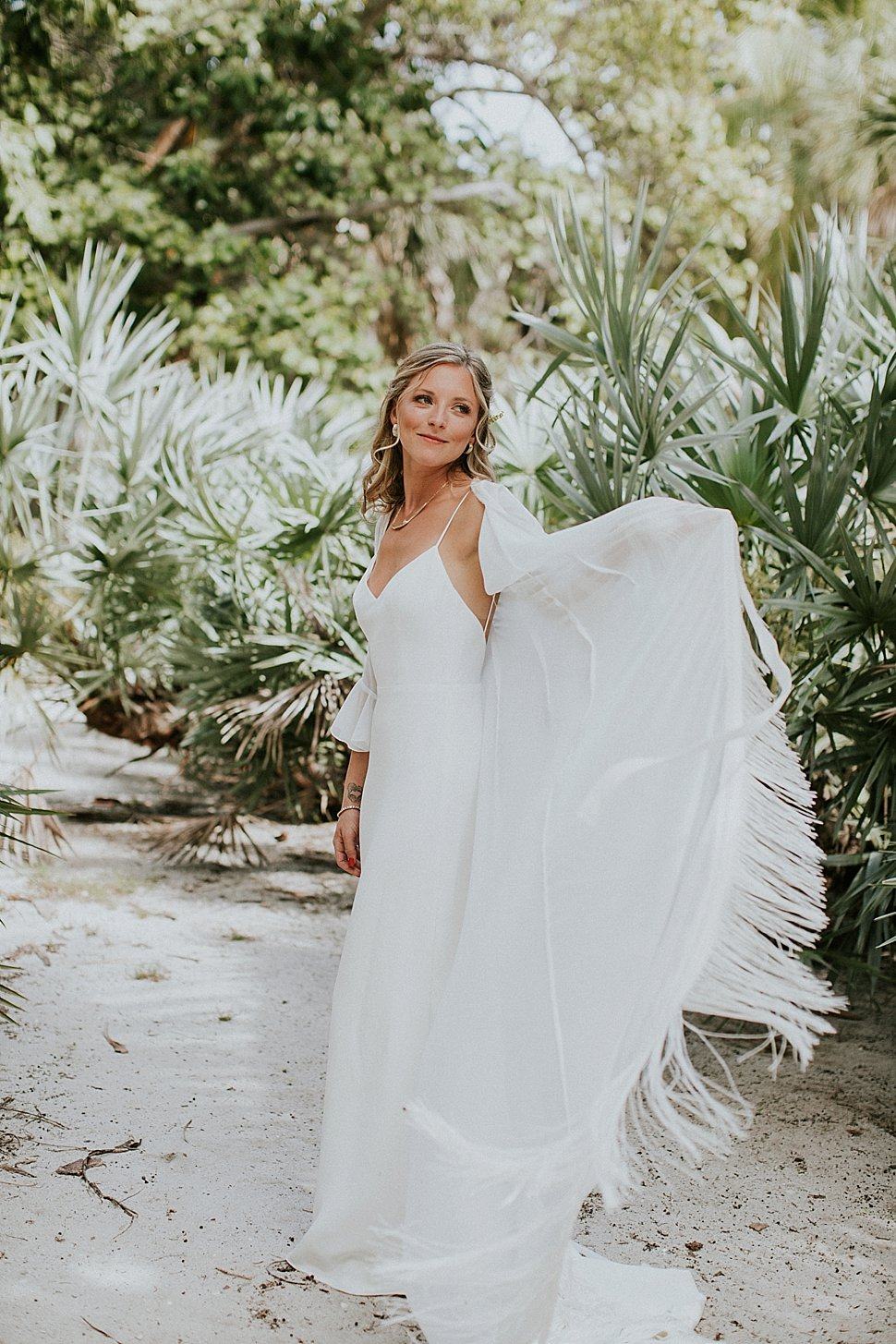 bridal fringe wedding cape