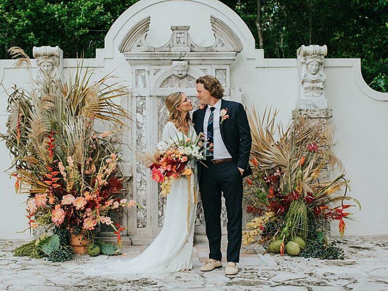 Heather + Zack - Boho Bonnet House Wedding - {South Florida Wedding Photographer}