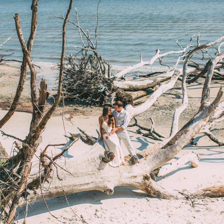 Talbot Island - Jacksonville, FL - Engagement shoot - {North Florida Destination Engagement Photographer}