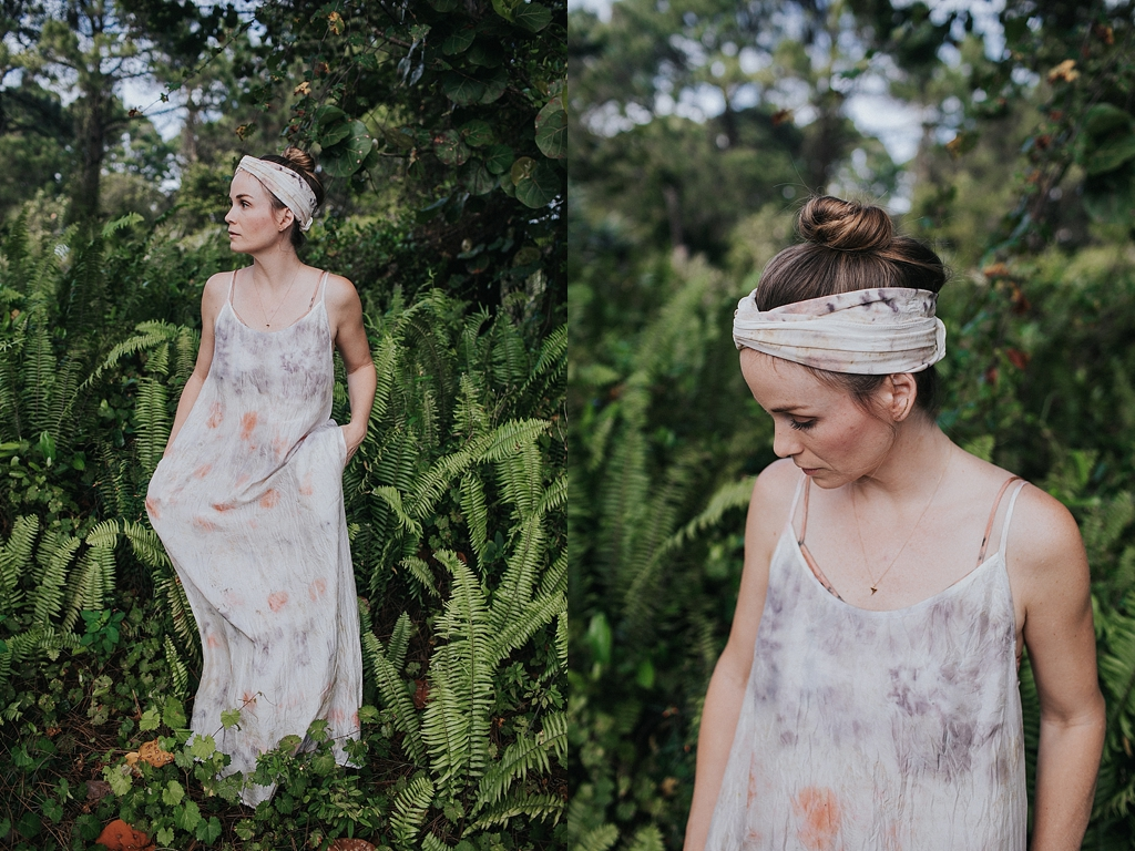 floral dyed garments