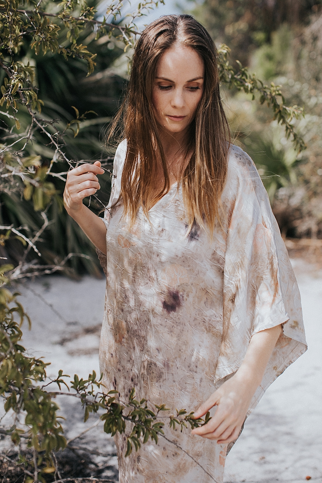 heirloom hand dyed floral dress