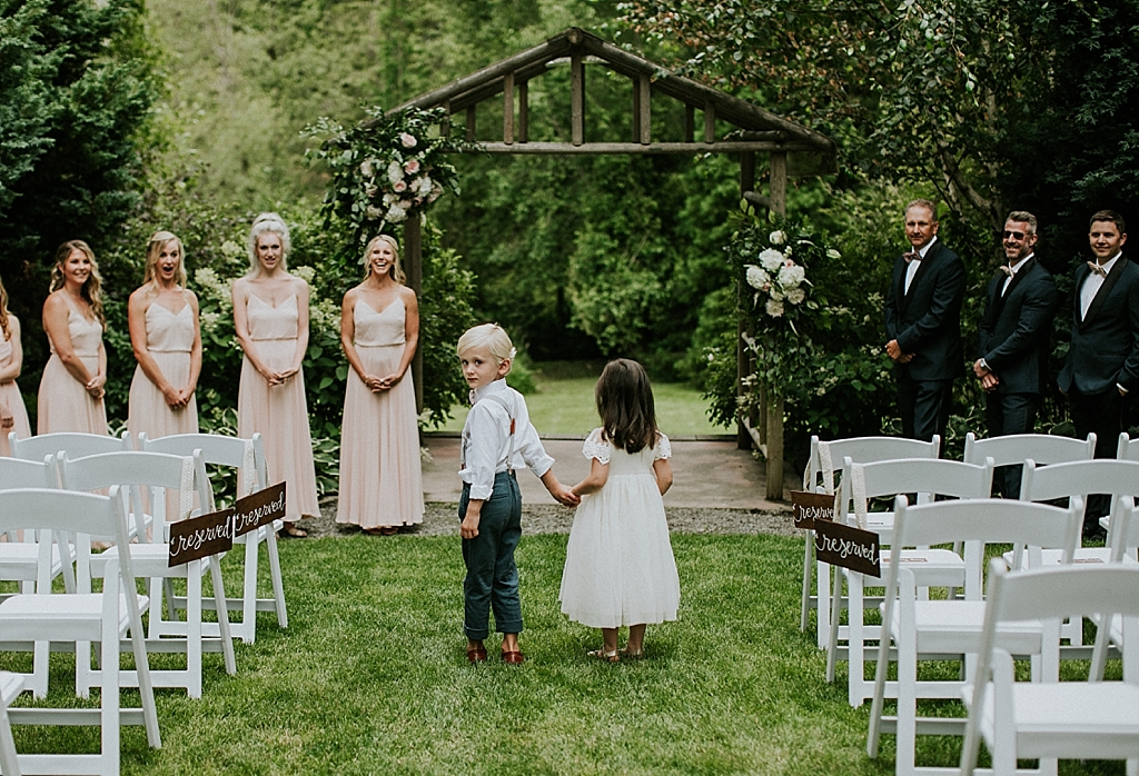 cute photos of ring bearer and flower girl