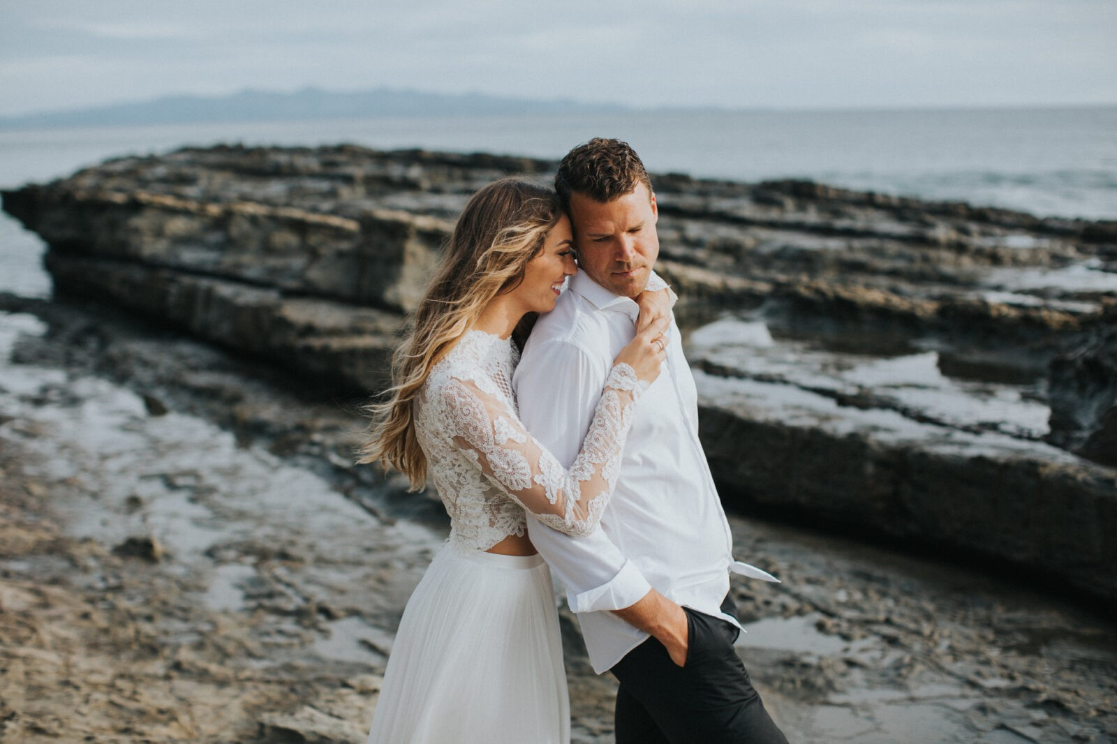 emotional bride and groom portraits