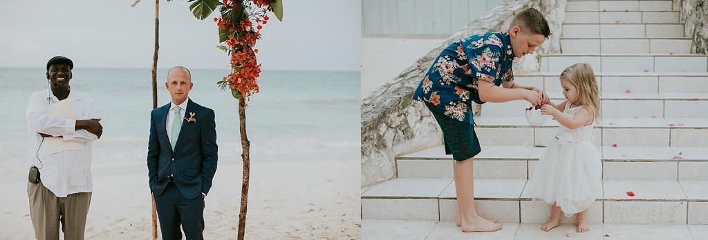 intimate wedding ceremony on the beach