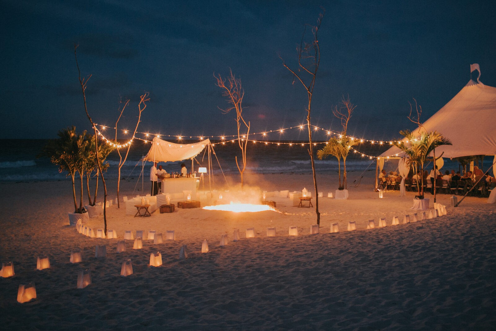 beach bonfire wedding