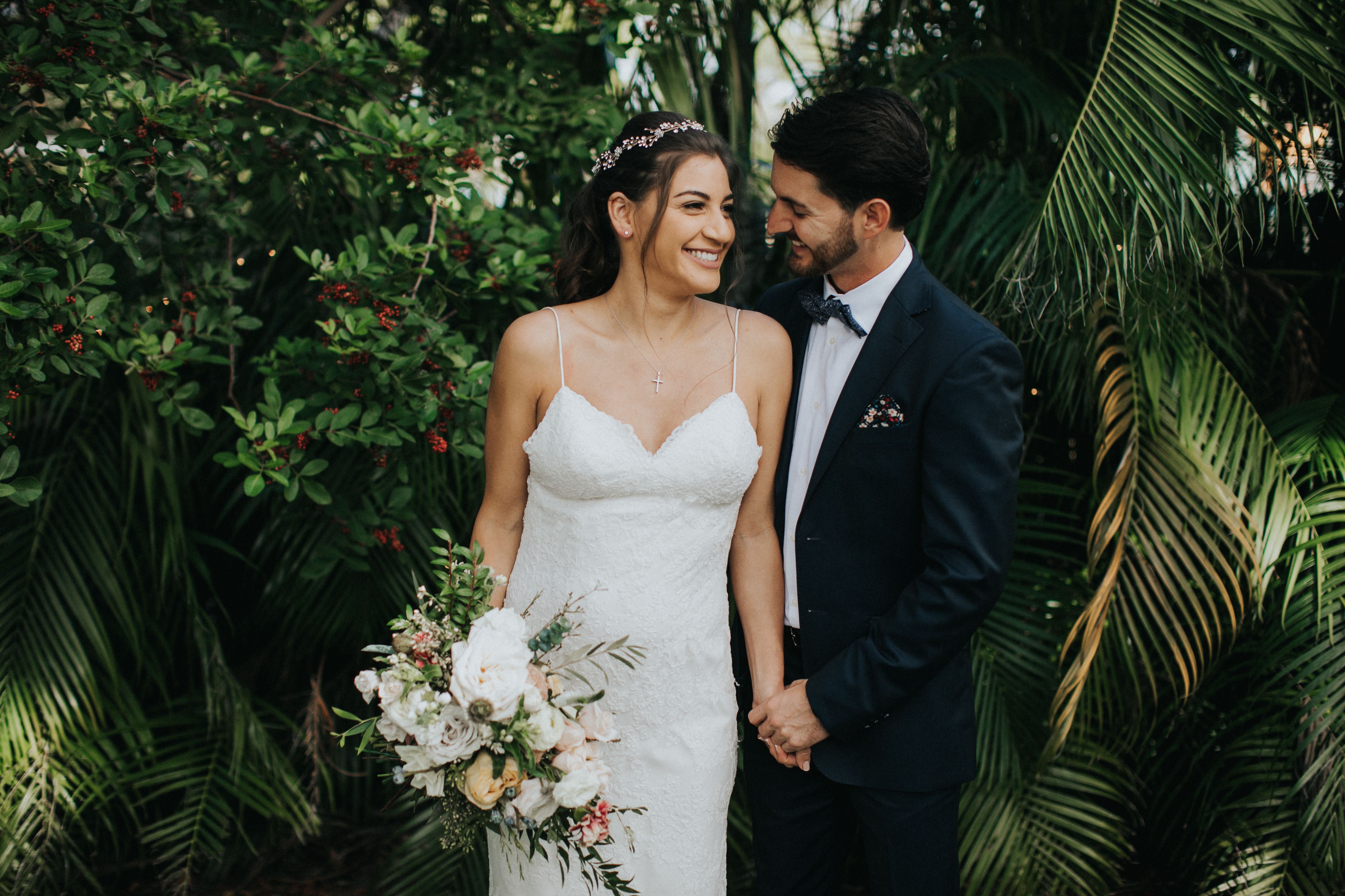 tropical wedding portraits