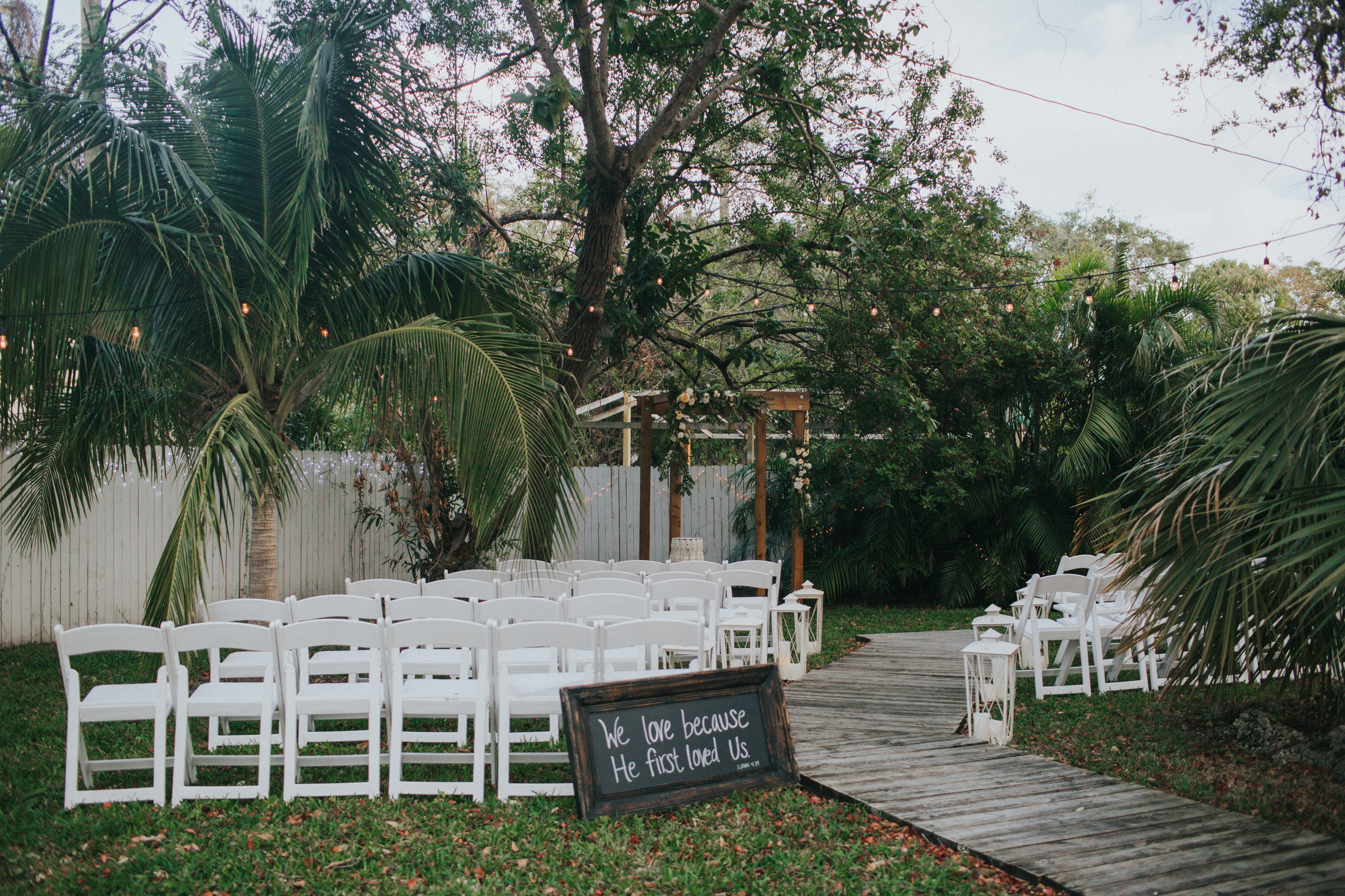 outdoor wedding ceremony miami