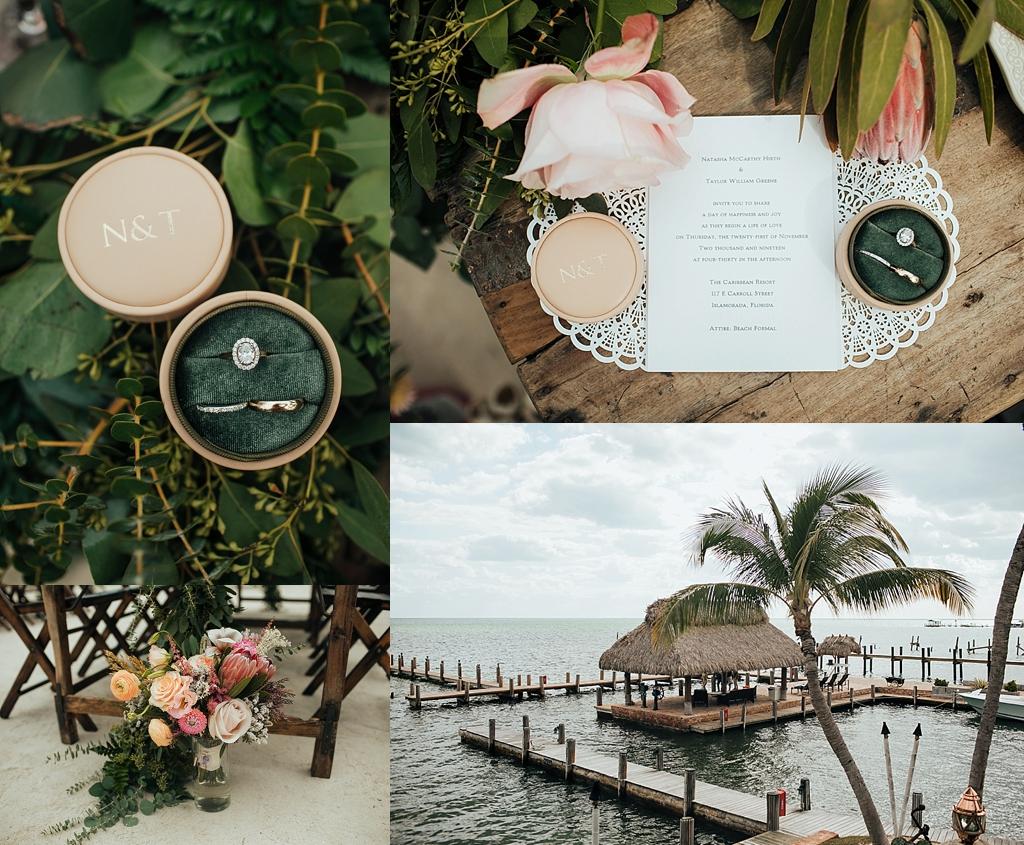 tropical wedding details florida keys wedding