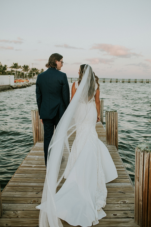 sunset wedding photos in islamorada florida