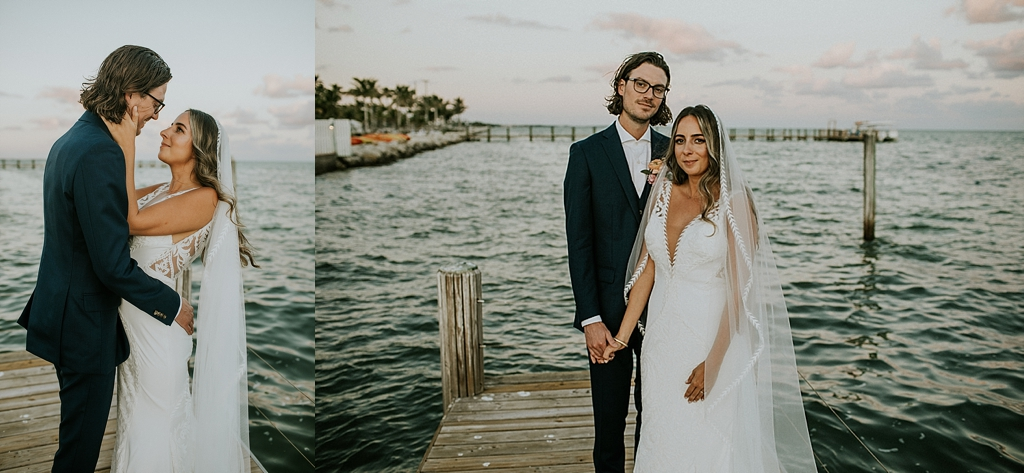 Caribbean resort sunset wedding