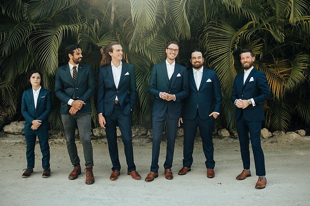 groomsmen portraits in islamorada florida