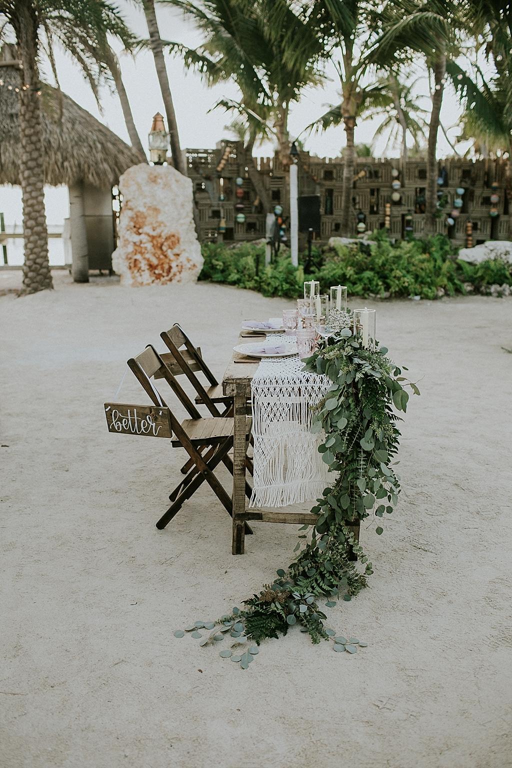 boho wedding reception details