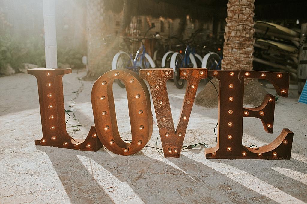 love sign at the caribbean resort