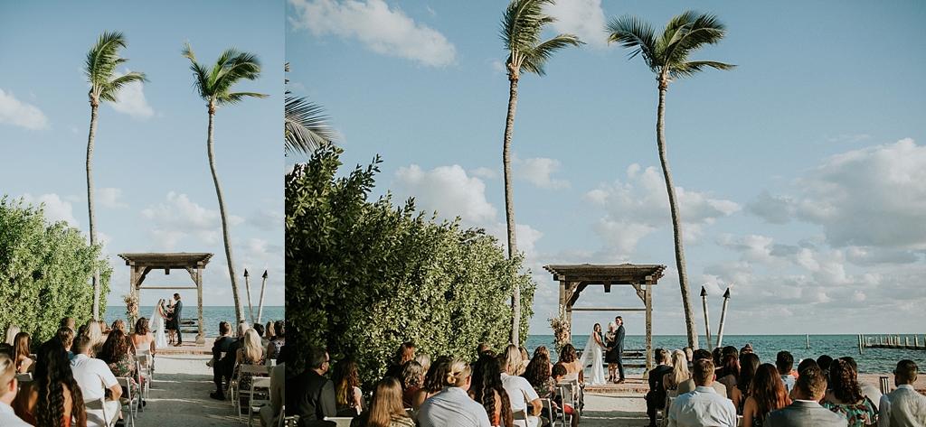 ocean side florida keys wedding