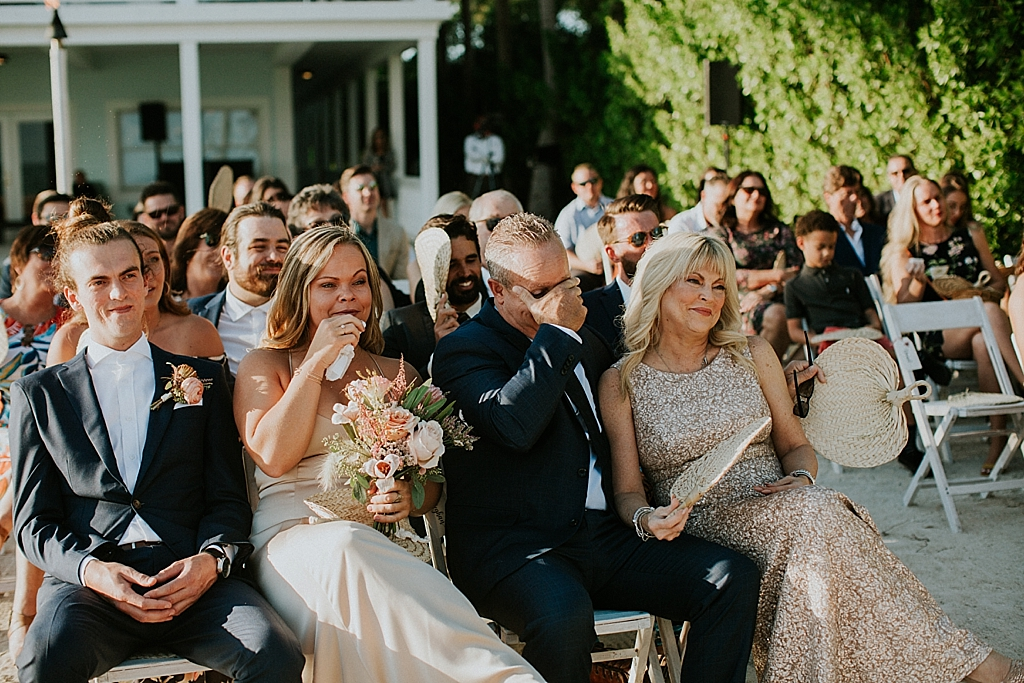 emotional wedding guests