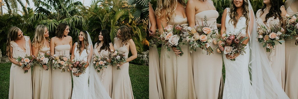 champagne wedding colors florida keys