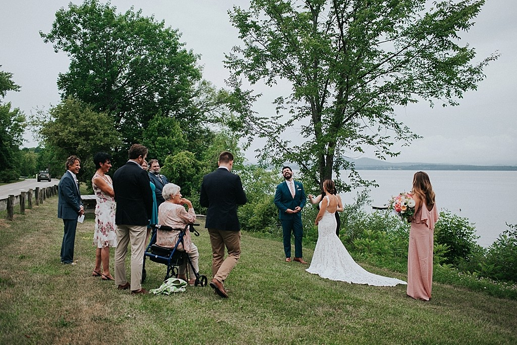 lake champlain wedding ceremony