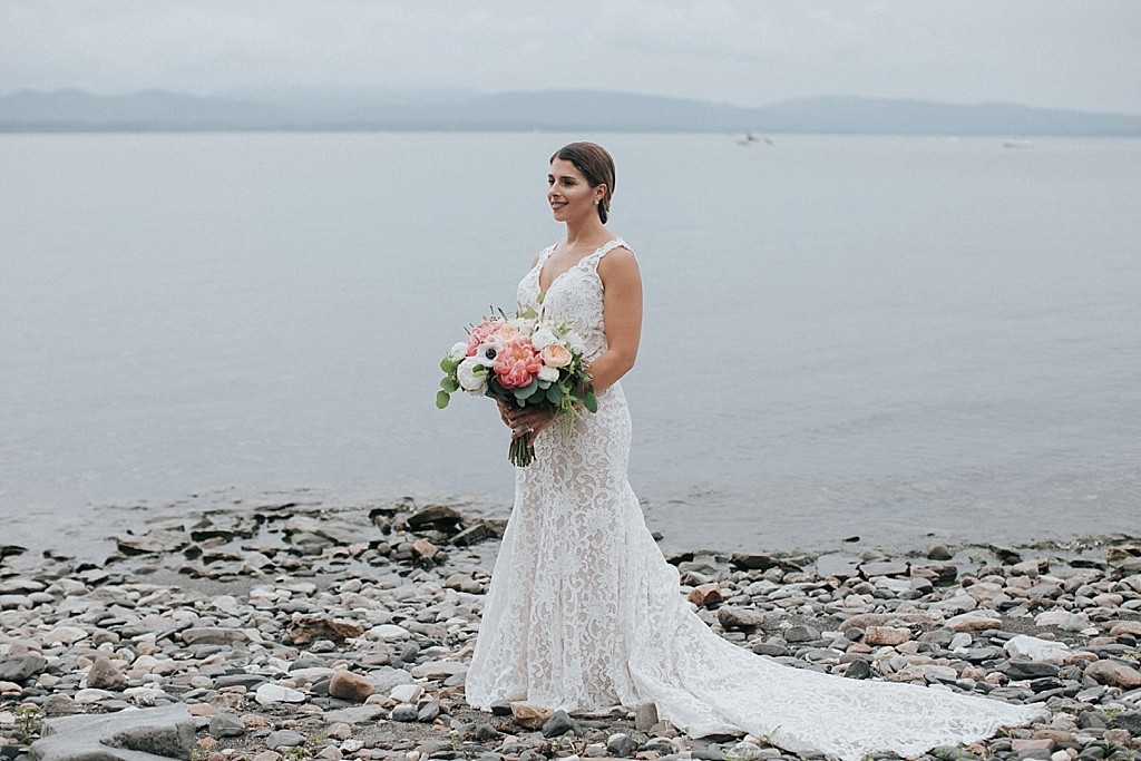 intimate summer vermont wedding