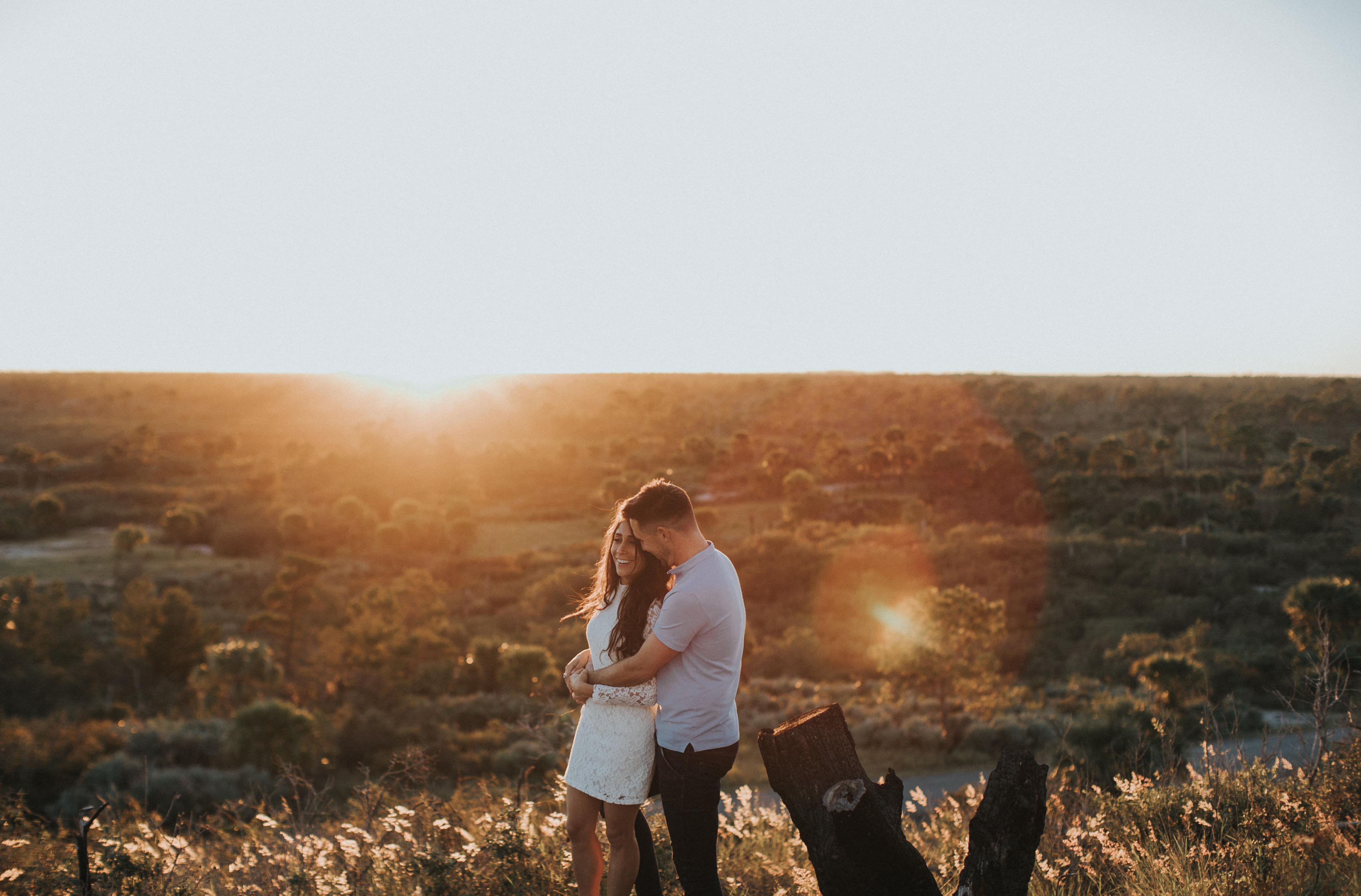 sunset engagement session