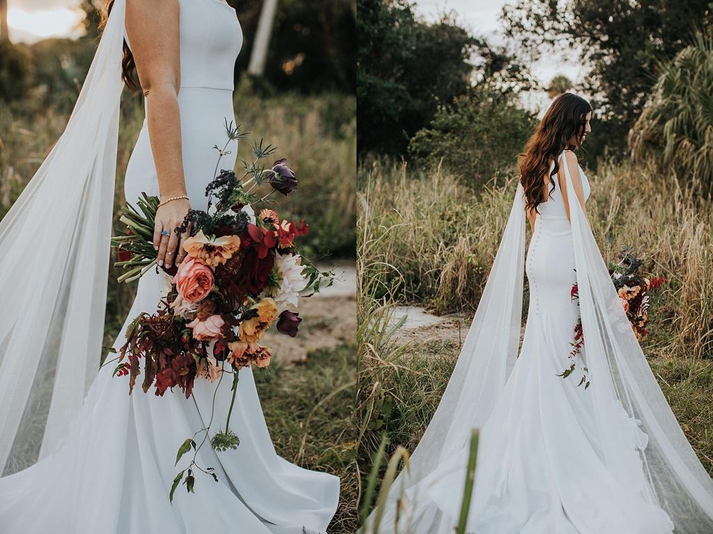 wedding dress with cape