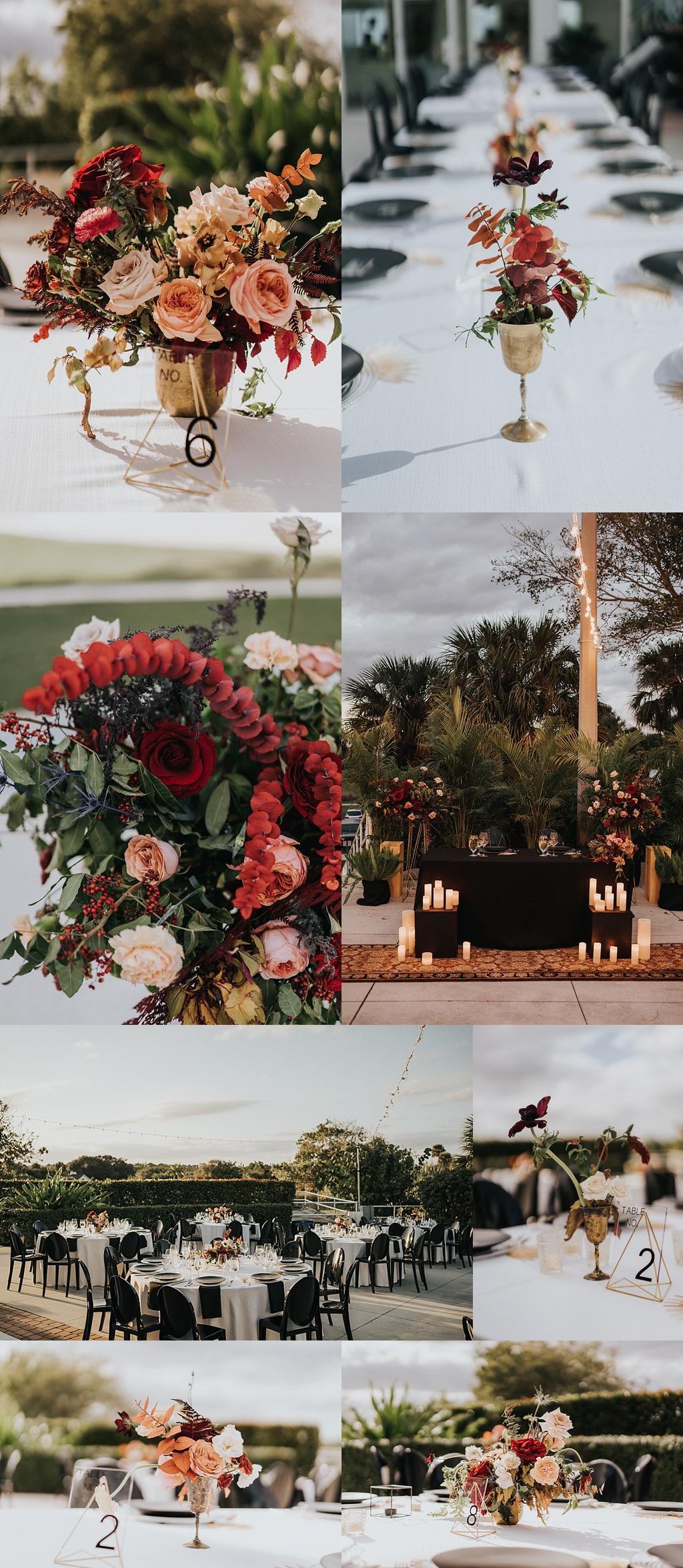 modern wedding details
