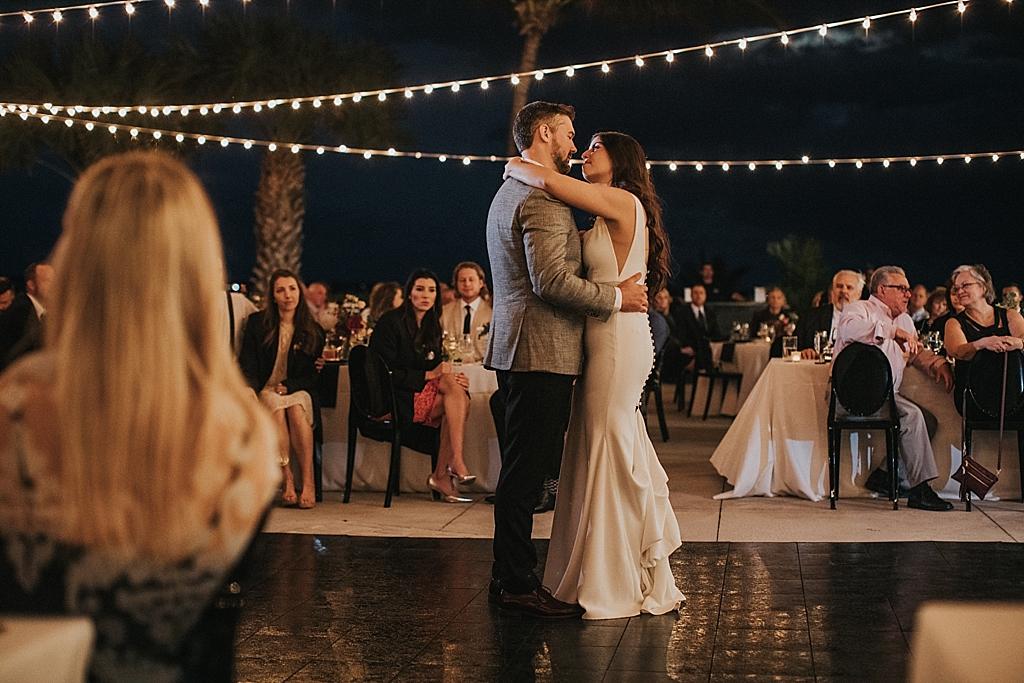 romantic first dance under the stars