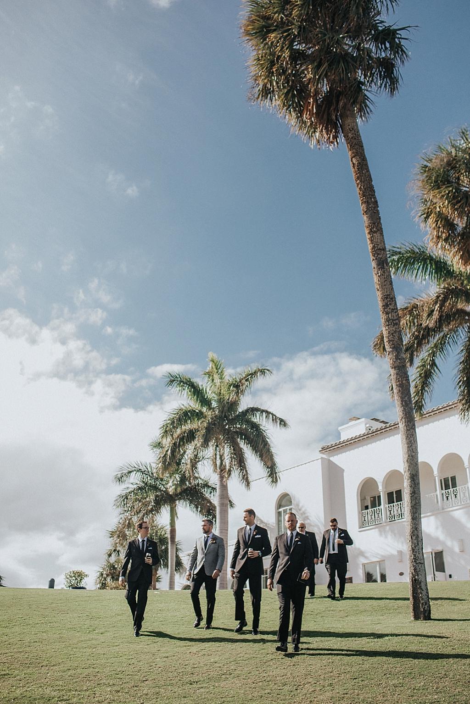 groom and groomsmen heading to the wedding ceremony