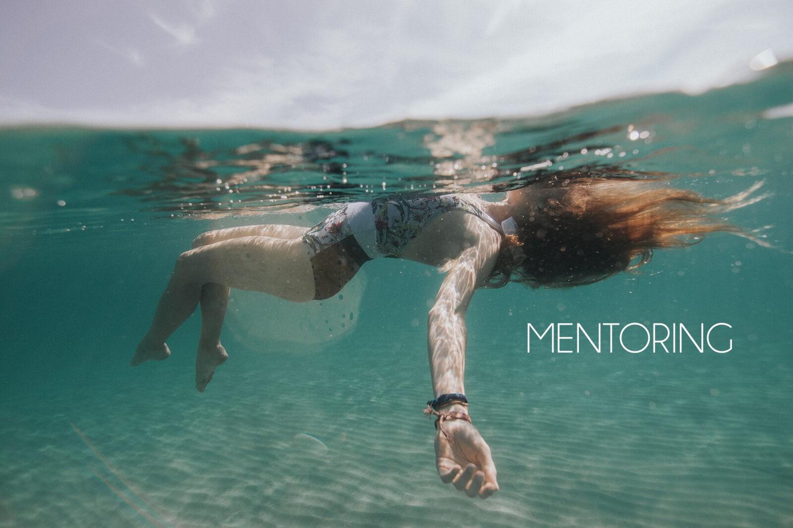 underwater mentoring session